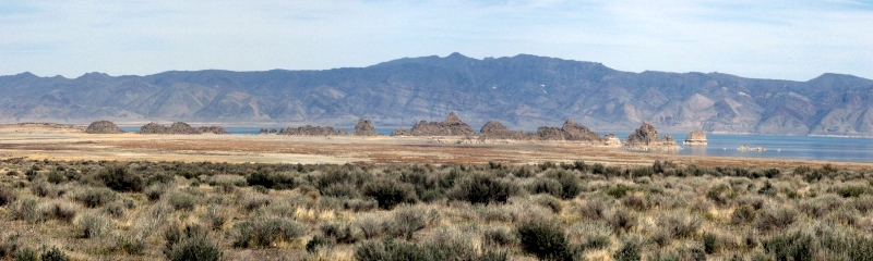 The Needles, Pyramid Lake, and Lake Range