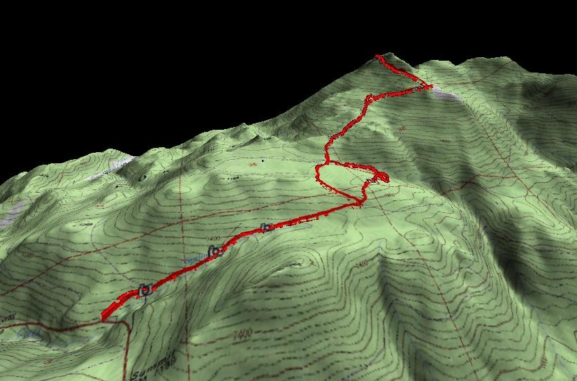 Martis Peak hike 3D view